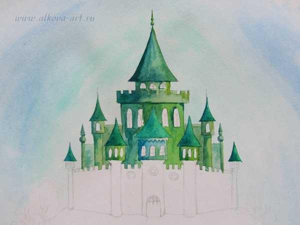 Рисунок волшебного города 4 класс 004