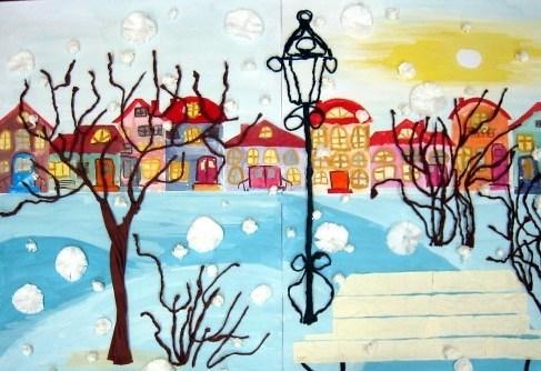 Рисунок волшебного города 4 класс 012
