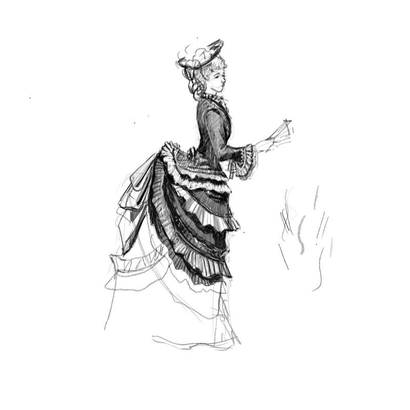 Рисунок девушка в платье со спины карандашом   сборка картинок (17)