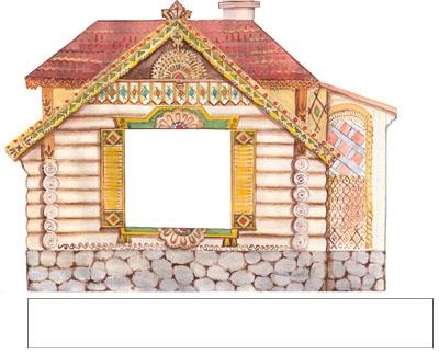 Рисунок домика с окошками   изображения 002