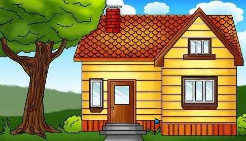 Рисунок домика с окошками   изображения 003