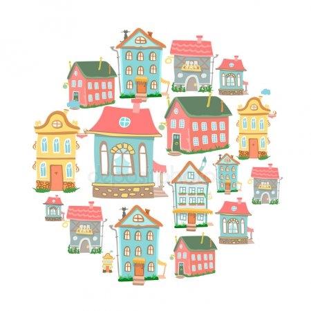 Рисунок домика с окошками   изображения 004