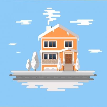 Рисунок домика с окошками   изображения 006