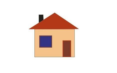 Рисунок домика с окошками   изображения 011