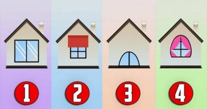 Рисунок домика с окошками   изображения 012