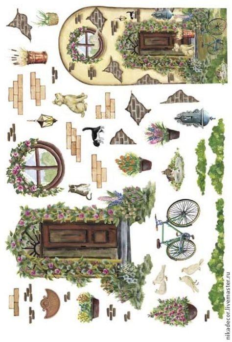 Рисунок домика с окошками   изображения 017
