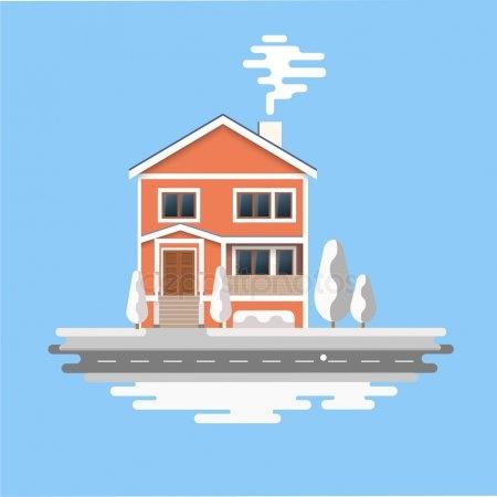 Рисунок домика с окошками   изображения 024
