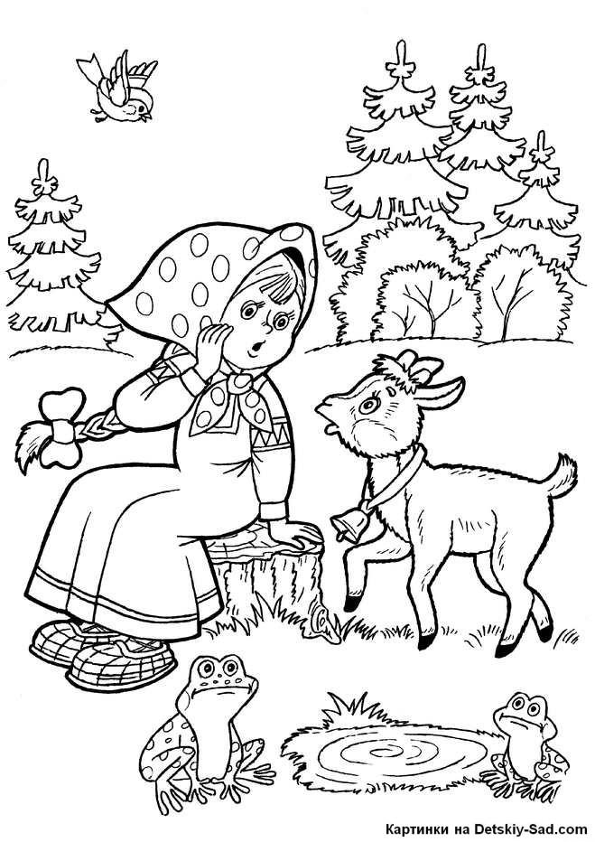 Рисунок из русских народных сказок 006