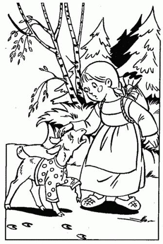 Рисунок из русских народных сказок 021