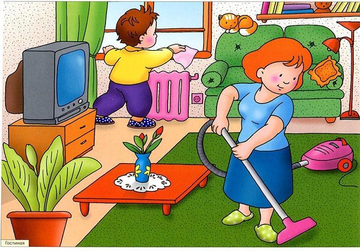 известного картинки рисунки на тему как я маме помогают особи