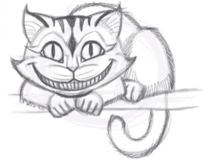 чаще чеширский кот из алисы в стране чудес картинки карандашом только установленные новые