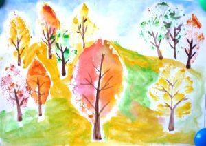 Рисунок красота осени для детей 028