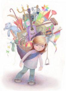 Рисунок на тему Мир детства 022