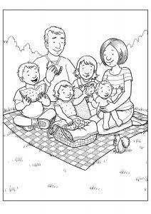 Рисунок на тему Моя семья на природе   подборка (13)