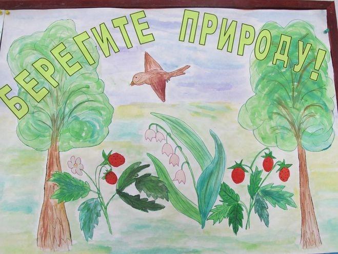 Рисунок на тему берегите природу 1 класс002