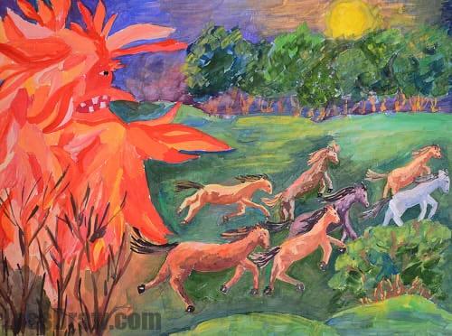 Рисунок на тему берегите природу 1 класс007