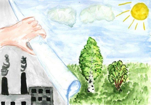 Рисунок на тему берегите природу 1 класс019