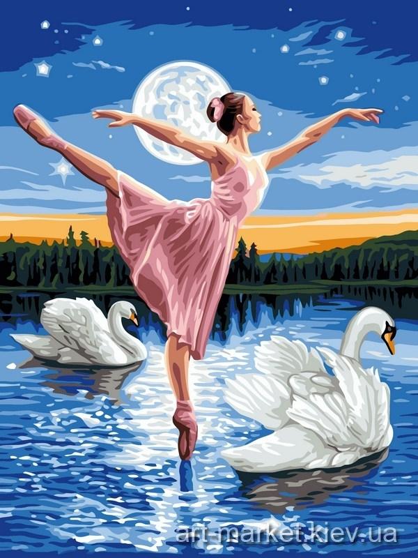 Рисунок на тему лебединое озеро 003