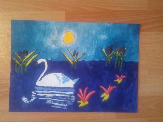 Рисунок на тему лебединое озеро 008