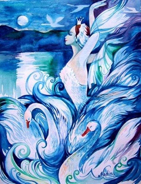 Рисунок на тему лебединое озеро 011