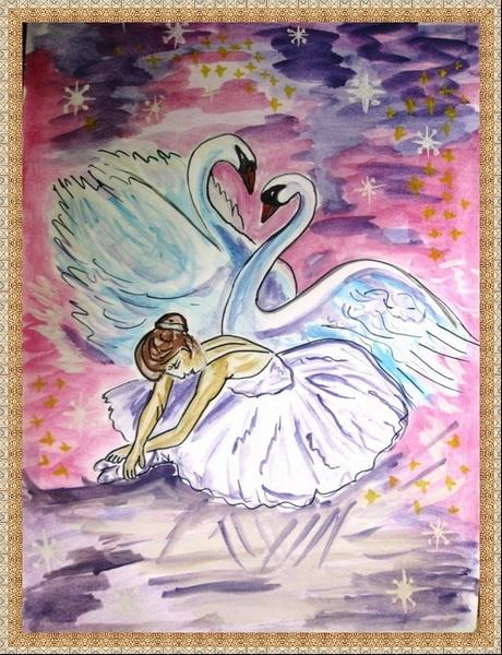 Рисунок на тему лебединое озеро 012