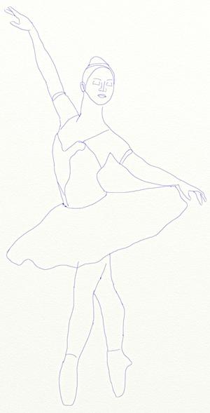 Рисунок на тему лебединое озеро 014