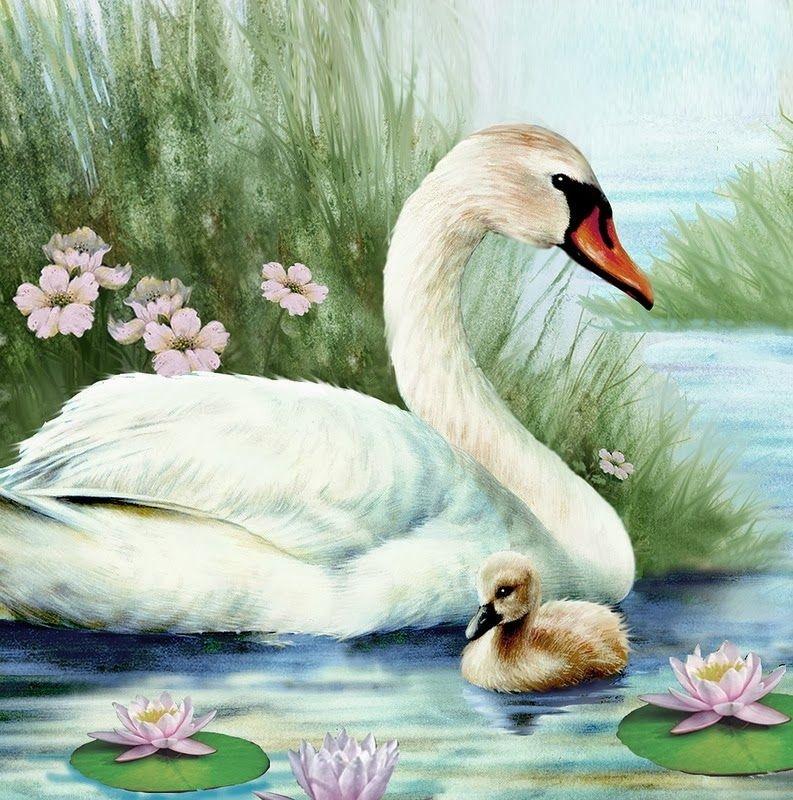 Рисунок на тему лебединое озеро 015