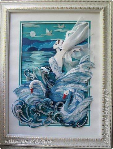 Рисунок на тему лебединое озеро 019