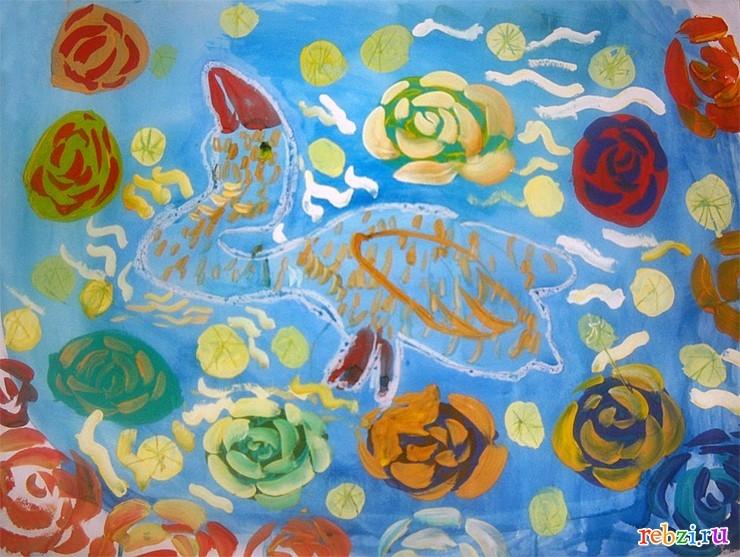 Рисунок на тему лебединое озеро 021