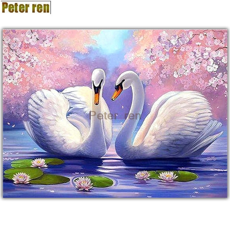 Рисунок на тему лебединое озеро 022