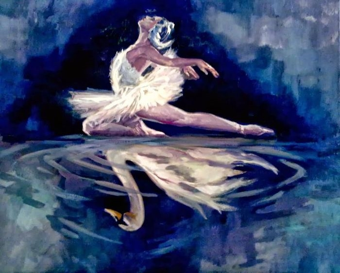 Рисунок на тему лебединое озеро 023