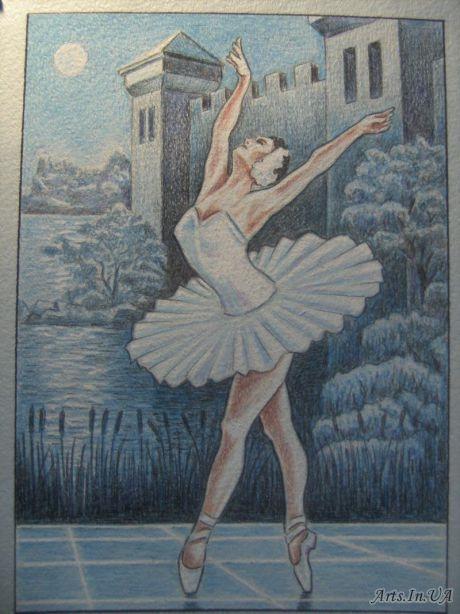 Рисунок на тему лебединое озеро 026