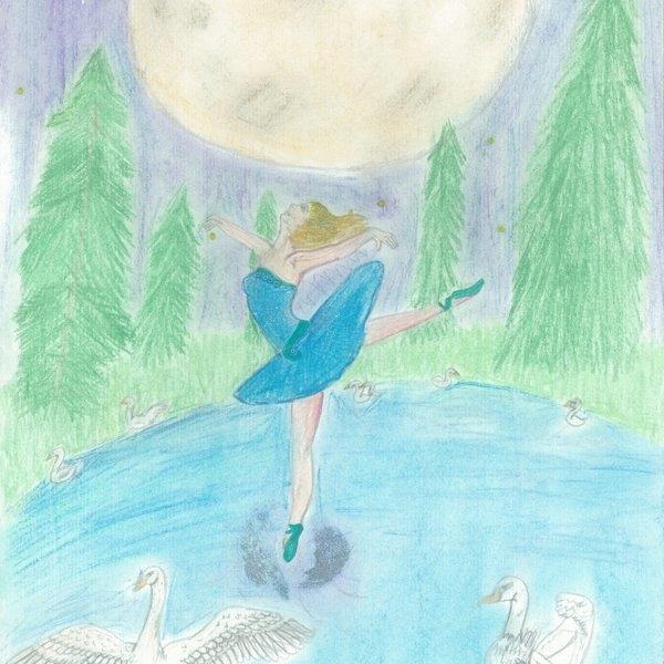 Рисунок на тему лебединое озеро 027