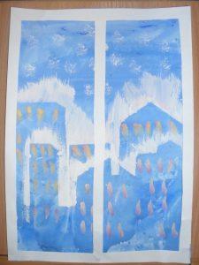 Рисунок на тему первый снег   картинки 022