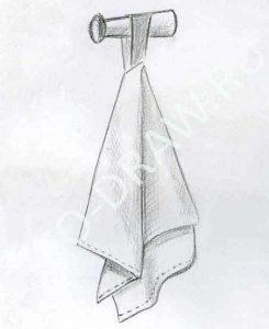 Рисунок полотенце с узорами карандашом 024