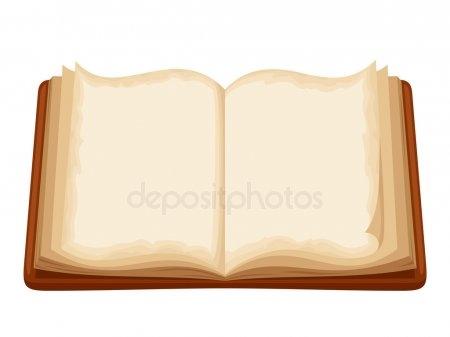 Рисунок раскрытой книги с пером 001
