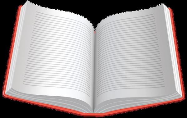 Рисунок раскрытой книги с пером 006