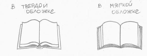 Рисунок раскрытой книги с пером 016