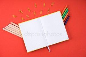 Рисунок раскрытой книги с пером 023