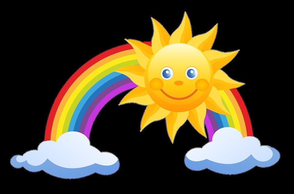 Картинки радуга дети солнышко