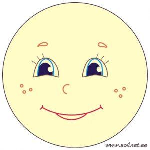 Рисунок солнца с улыбкой для детей 027