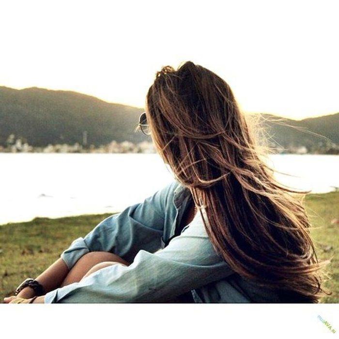 Русая девушка спиной фото и картинки026