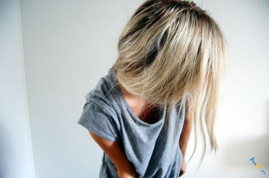 Русые девушки фото на аву без лица015