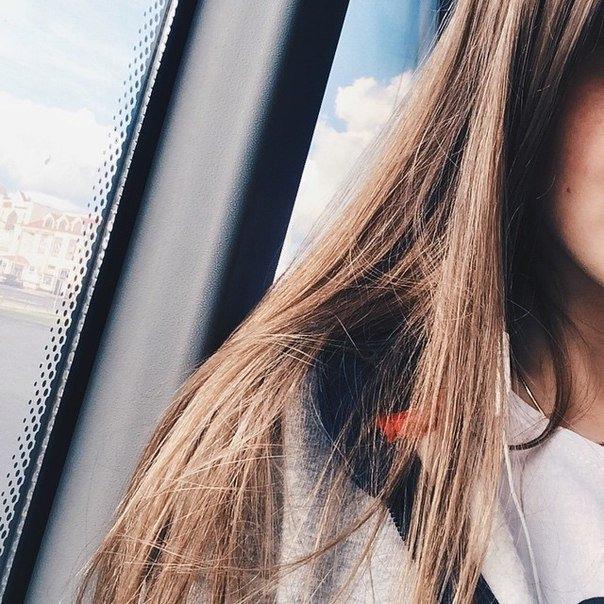 Русые девушки фото на аву без лица016