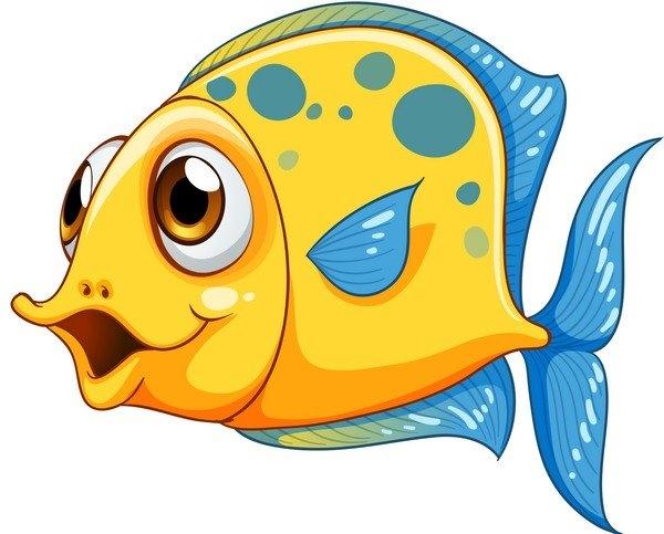 Рыбка на прозрачном фоне картинки для детей 001