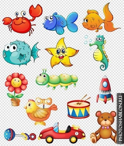 Рыбка на прозрачном фоне картинки для детей 004