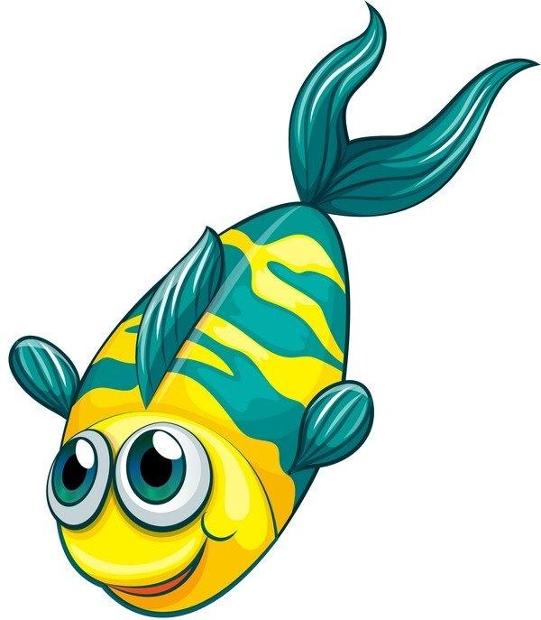Рыбка на прозрачном фоне картинки для детей 007