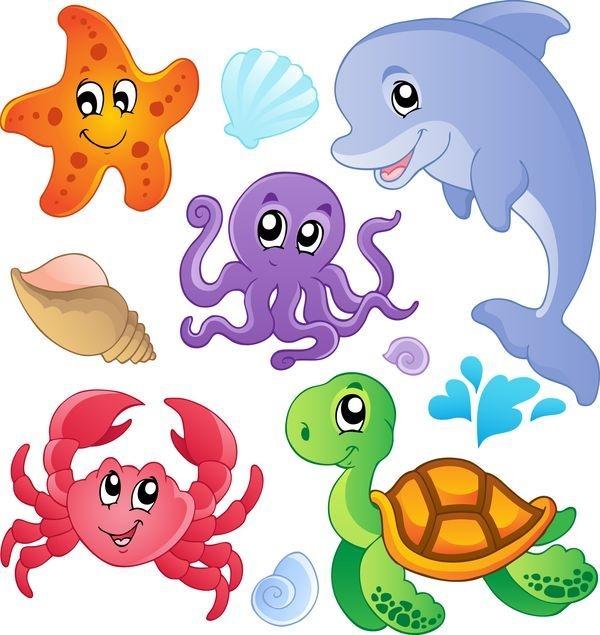 Рыбка на прозрачном фоне картинки для детей 008
