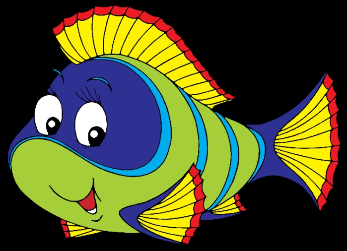 Рыбка на прозрачном фоне картинки для детей 013
