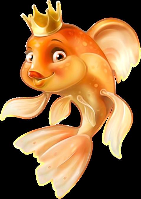 Рыбка на прозрачном фоне картинки для детей 021